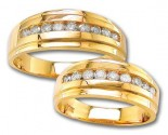 Two Piece Wedding Set 14K Yellow Gold 0.80 cts. S19-12