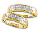 Two Piece Wedding Set 14K Yellow Gold 1.25 cts S19-3132