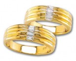 Two Piece Wedding Set 14K Yellow Gold 0.60 cts. S19-78