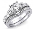 Ladies Two Piece Set 18K White Gold 1.33 cts. S2149A