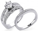 Ladies Two Piece Set 18K White Gold 1.60 cts. S2434A