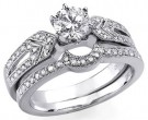 Ladies Two Piece Set 18K White Gold 1.20 cts. S2439A