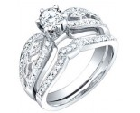 Ladies Two Piece Set 18K White Gold 0.90 cts. S50-1