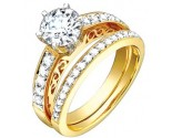Ladies Two Piece Set 18K Yellow Gold 1.30 cts. S50-10