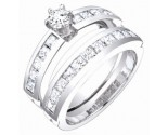 Ladies Two Piece Set 14K White Gold 2.15 cts. S50-11