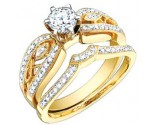 Ladies Two Piece Set 18K Yellow Gold 0.82 cts. S50-2