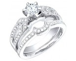 Ladies Two Piece Set 18K White Gold 1.20 cts. S50-3