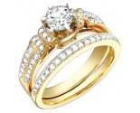Ladies Two Piece Set 18K Yellow Gold 0.95 cts. S50-5