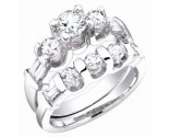 Ladies Two Piece Set 14K White Gold 1.75 cts. S50-6