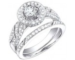 Ladies Two Piece Set 18K White Gold 1.26 cts. S50-8