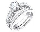 Ladies Two Piece Set 18K White Gold 1.30 cts. S50-9