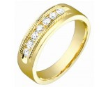 Mens Diamond Band 14K Yellow Gold 0.60 cts. S53-7