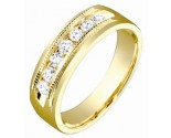 Ladies Diamond Band 14K Yellow Gold 0.35 cts. S53-8