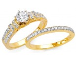 Ladies Two Piece Set 18K Yellow Gold 0.95 cts. S5335A