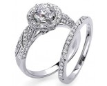 Ladies Two Piece Set 18K White Gold 1.52 cts. S5605S