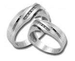 Two Piece Wedding Set 14K White Gold 0.50 cts. HHSD-161