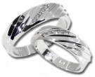 Two Piece Wedding Set 14K White Gold 0.40 cts. HHSD-181