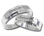 Two Piece Wedding Set 14K White Gold 0.60 cts. HHSD-183