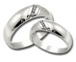 Two Piece Wedding Set 14K White Gold 0.30 cts. HHSD-185