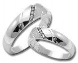 Two Piece Wedding Set 14K White Gold 0.25 cts. HHSD-204