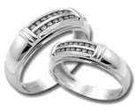 Two Piece Wedding Set 14K White Gold 1.40 cts. HHSD-207