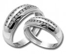 Two Piece Wedding Set 14K White Gold 1.20 cts. HHSD-208