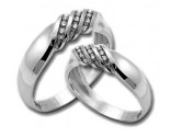 Two Piece Wedding Set 14K White Gold 0.50 cts. HHSD-210