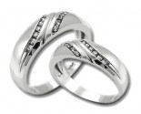 Two Piece Wedding Set 14K White Gold 0.60 cts. HHSD-214