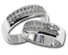 Two Piece Wedding Set 14K White Gold 1.60 cts. HHSD-504