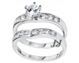 925 Sterling Silver Bridal 2-Piece Set SL-9001