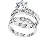 925 Sterling Silver Bridal 2-Piece Set SL-9003
