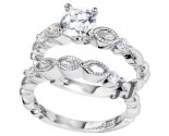 925 Sterling Silver Bridal 2-Piece Set SL-9050
