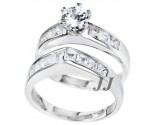 925 Sterling Silver Bridal 2-Piece Set SL-9080