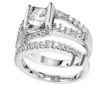 925 Sterling Silver Bridal 2-Piece Set SL-9102