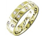 Diamond Wedding Band 14K Yellow Gold 0.51 cts DYWB-2151