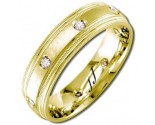 Diamond Wedding Band 14K Yellow Gold 0.16 cts DYWB-2153