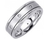 Diamond Wedding Band 14K White Gold 0.16 cts. DWB-2154