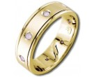 Diamond Wedding Band 14K Yellow Gold 0.16 cts DYWB-2154