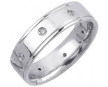 Diamond Wedding Band 14K White Gold 0.16 cts. DWB-2155