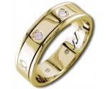 Diamond Wedding Band 14K Yellow Gold 0.16 cts DYWB-2155