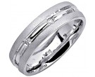 Diamond Wedding Band 14K White Gold 0.16 cts. DWB-2157