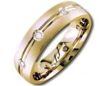 Diamond Wedding Band 14K Yellow Gold 0.16 cts DYWB-2157