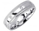 Diamond Wedding Band 14K White Gold 0.16 cts. DWB-2158