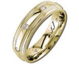 Diamond Wedding Band 14K Yellow Gold 0.16 cts DYWB-2158