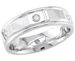Diamond Wedding Band 14K White Gold 0.12 cts. DWB-2159
