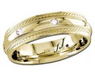 Diamond Wedding Band 14K Yellow Gold 0.16 cts DYWB-2161