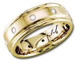 Diamond Wedding Band 14K Yellow Gold 0.32 cts DYWB-2251