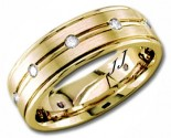 Diamond Wedding Band 14K Yellow Gold 0.32 cts DYWB-2252