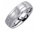 Diamond Wedding Band 14K White Gold 0.16 cts. DWB-2254