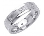 Diamond Wedding Band 14K White Gold 0.16 cts. DWB-2255